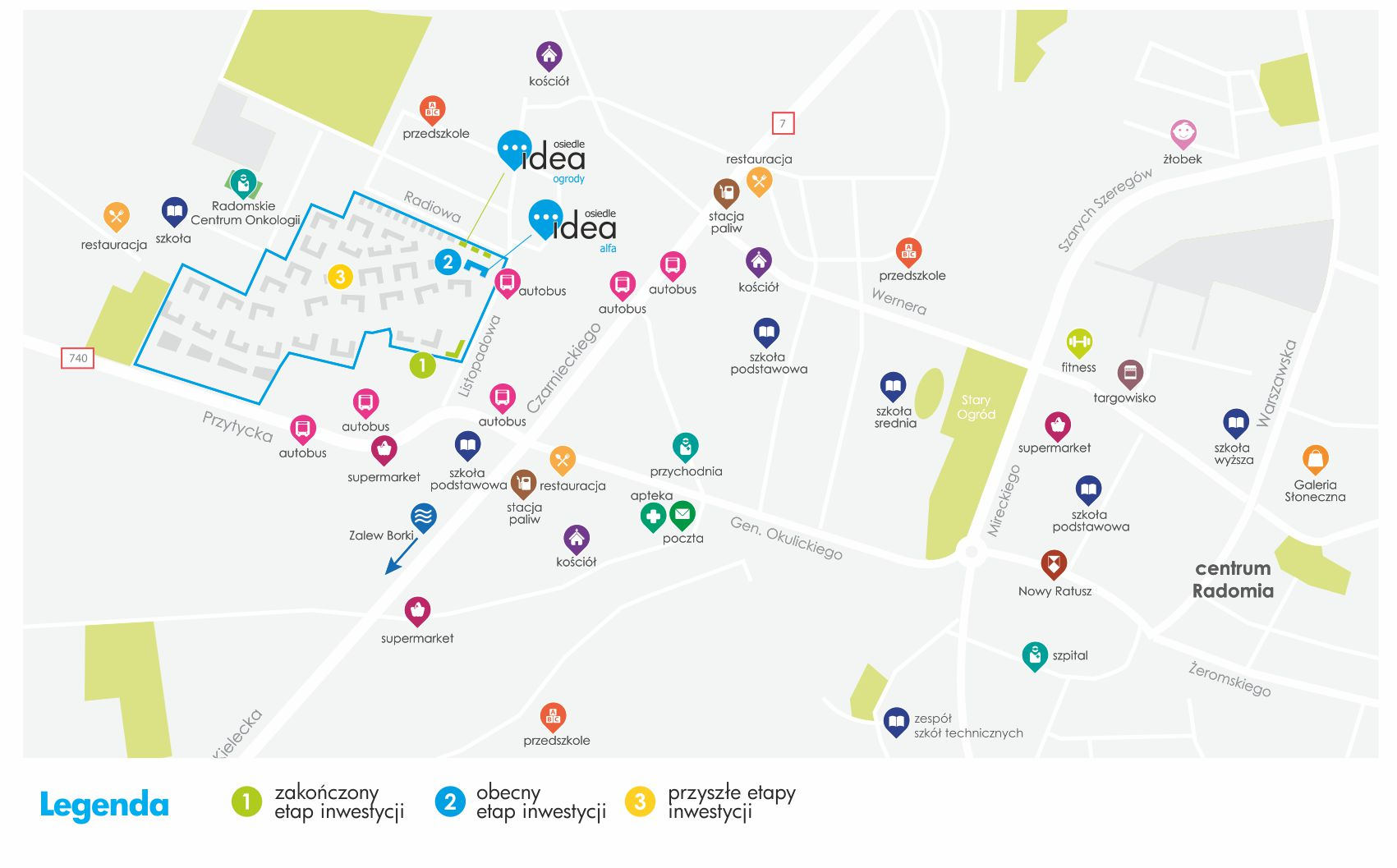 Osiedle Idea - mapa